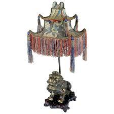 foo dog lamps williams sonoma home rare exotic lamp of tasseled paa shade with org l barbara cosgrove mini foo dog lamps