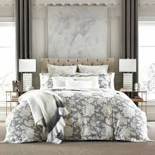 details about new tommy hilfiger broadmoor fl gray beige full queen duvet cover set 3pc