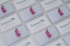 Custom Made Business Cards With Basic Invite Lifestyle With Laramie