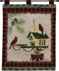 christmas in the garden wall hanging on christmas wall art tapestry with christmas in the garden wall hanging home garden dancing bears
