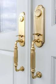 Front Doors : Baldwin Brass Entry Door Knobs Polished Brass Entry ...