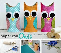 DIY Paper Roll Owls