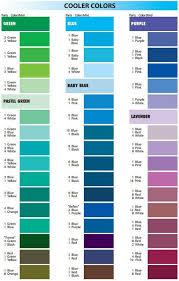 Baby Food Color Chart Satin Ice Mixing Guide Cool Colours In 2019 Frosting