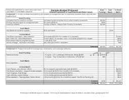 Budget Proposal Template Word Best Photos Of Sample Budget Proposal Template Sample Grant 4