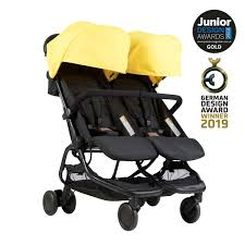 Light Stroller 2018 Nano Duo Lightweight Double City Stroller Mountain Buggy