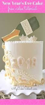 New Years Eve Cake Tutorial Pour The Champagne My Cake School