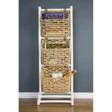 Vale 3-Tier Magazine Rack with 3 Hyacinth Storage Baskets - Free Shipping  Today - Overstock.com - 23990911