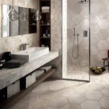 tiled showers. large hexagonal tile in bathroom and shower tiled showers
