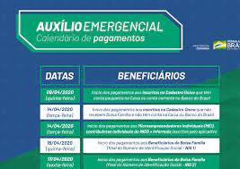 Auxílio emergencial de R$ 600 começa a ser pago na quinta-feira. Veja o  calendário. – Blog do Lúcio Big