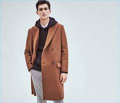 ready for the cold weather thibaud charon wears a brown h m wool blend coat