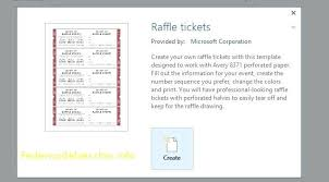 Avery Event Tickets Avery Raffle Tickets 8 Per Page Zaloy Carpentersdaughter Co