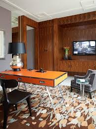 office orange. Custom Orange Desk Steals The Show In This Home Office [Design: Jamie Herzlinger]