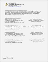 Resume Examples For Front Desk In Medical Office Beautiful