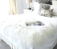 interesting faux fur rug white g4245705 faux fur rugs and throws small grey sheepskin rug white