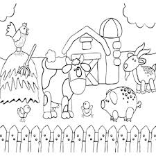 Coloring Pages Coloringes Preschool Animals Surging Farm Animal