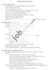 Samples Of Resumes For High School Students Tomyumtumweb Com