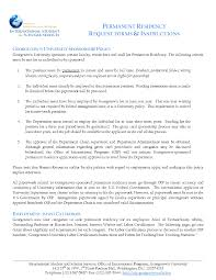 Singapore Permanent Resident Cover Letter Sample Reference For
