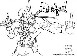 Small Picture Get This Deadpool Coloring Pages Free Printable 107432