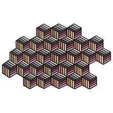 view product gan parquet hexagon rug large