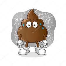 ✓ Poop thinking hard vector. cartoon character premium vector in Adobe  Illustrator ai ( .ai ) format, Encapsulated PostScript eps ( .eps ) format