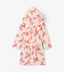 Hatley Size Chart Us Playful Horses Kids Fleece Robe