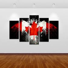 canadian flag canvas wall art