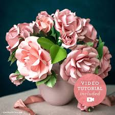 Paper Flower Video Garden Roses Buds Frosted Paper Flower Kit