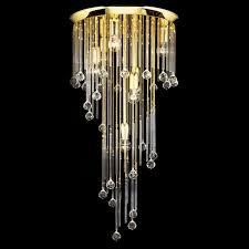 kolarz art deco crystal ceiling light gold