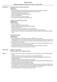 Master Teacher Resume Samples | Velvet Jobs