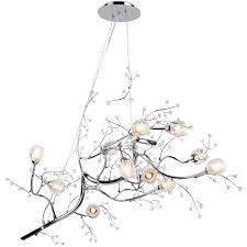 latest branch crystal chandelier regarding 47 12 light oval shaped tree twig branch flower crystal