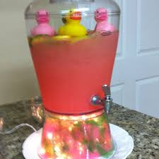 Pink Party Punch  Two 2 Liter Bottles Of Sprite 1 Can CranRas Punch For Girl Baby Shower