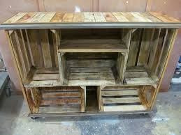 wooden crates furniture. Crate Shelving Rustic Wooden Ideas Crates Decorted As A Wall Unit Home Design 0 Furniture S