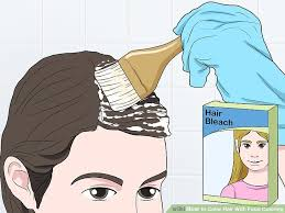 preparing to dye your hair image led color hair with food coloring step 1