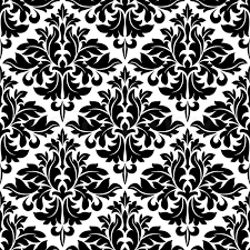 Arabesque Pattern Unique Black And White Floral Arabesque Pattern With A Geometric Diamond