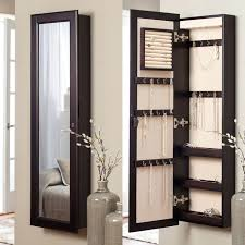 standing jewelry armoire with mirror jewelry boxes jewelry chest rustic standing jewelry box country style