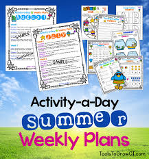 Activity-A-Day Summer Calendar & Weekly Plans | Blog | Tools To Grow ...