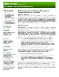Effective Architecture Resume Template Practice Offering Service