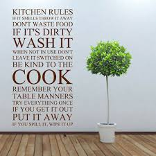 kitchen rules wall art sticker quote
