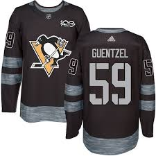 Penguins Nhl Black Pittsburgh Men's Authentic Guentzel Jake 1917-2017 Jersey Anniversary 59 100th