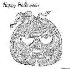 Coloriage Halloween Adulte Zen Citrouille Dessin