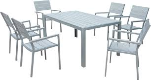 polywood garden furniture set table 6 chairs wbg