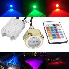 Underwater Drain Plug Led Light Us 79 2 10 Off Super Bright 27w Boat Drain Plug Led Light Rgb Color Changing 9 Led Underwater Light Boat Light Lamp 1 2