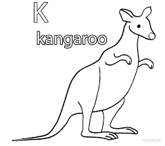 Small Picture Coloring Pages Animals Kangaroo Rat Coloring Pages Kangaroo