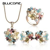 Necklace Earring Ring Sets - <b>Blucome</b> Official Store - AliExpress