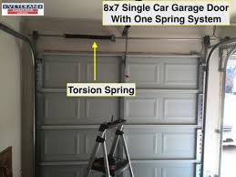 8x7 single car garage door dallas