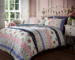 alpine patchwork heart flannelette duvet sets single double king flannel duvet set vintage fl multi