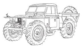 Land Rover Forest Rover Ink Drawing