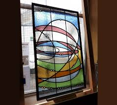 leaded glass door panel 300th anniversary memorial stained glass window stained glass for a nursery