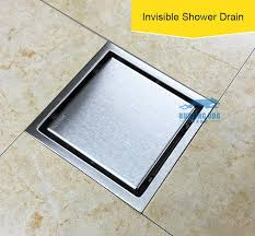 150x150 square drain bathroom bath shower cover filter trap hair polishing drainer floor grate kitchen steel