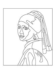 famous paintings coloring book pages